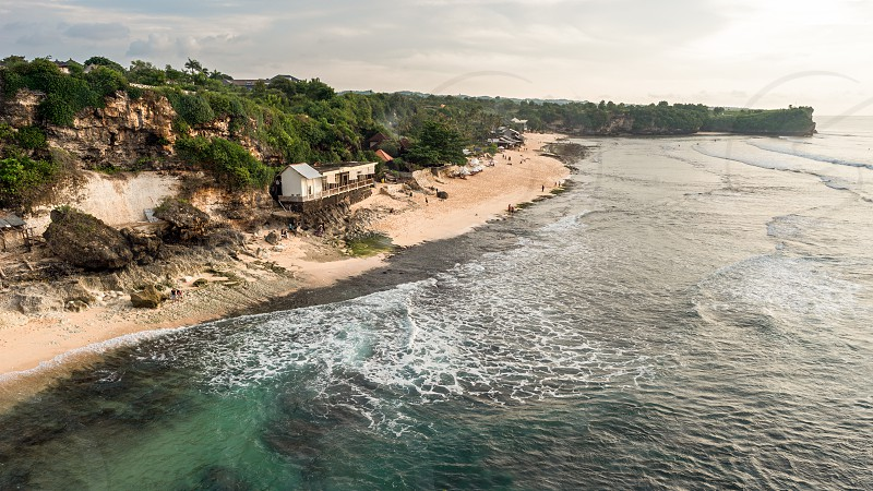 View from the cliff on Balangan beach. Bali. Indonesia. photo