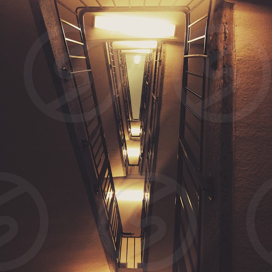 black framed ladder photo