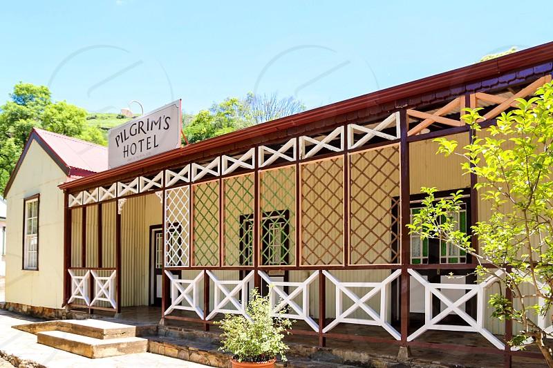 Vintage hotel South Africa  Pilgrims Rest  facade exterior wooden photo
