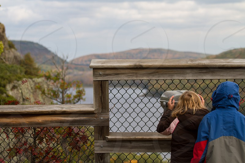 Two children looking at the view photo