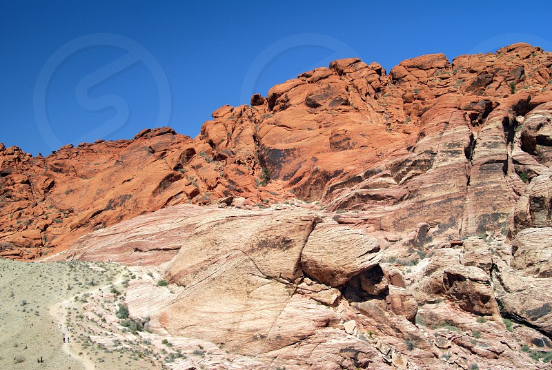 view of the red rock canyon photo