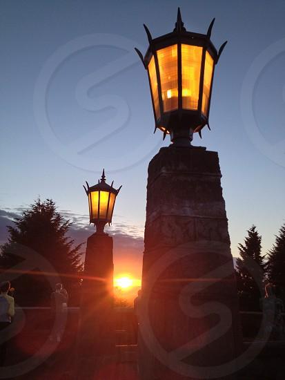 black outdoor lamp photo