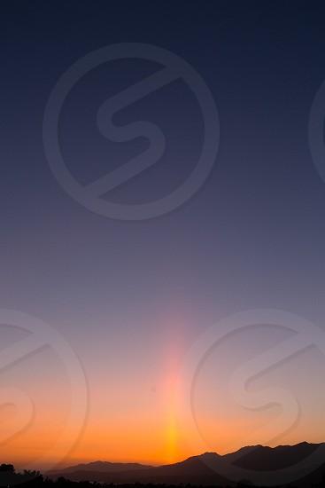 sunset santa barbara california mountains photo