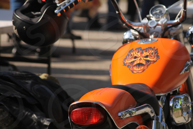 Hot Motorbike Bright Orange photo