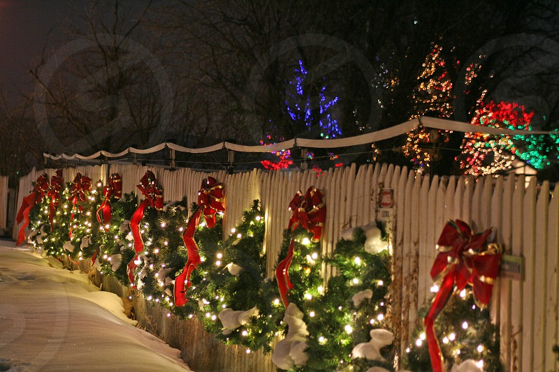 Wreath Fence Christmas  photo
