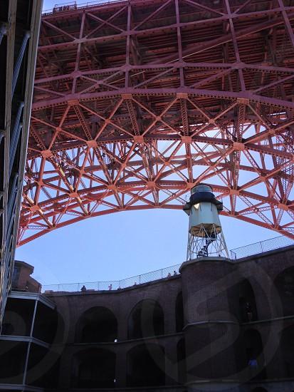 brown steel bridge structure photo