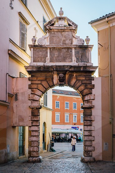 Alley in small European town photo