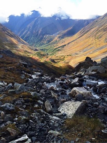 Crow Pass Trail. Alaska Hiking Mountain; Beautiful photo