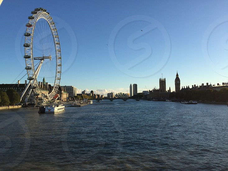 London Eye and Big Ben London  photo