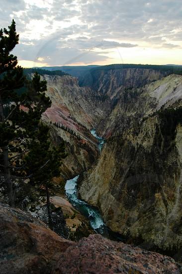 Yellowstone. Mountains. River. photo