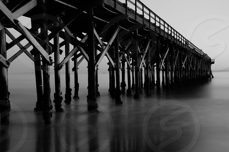 Gaviota Pier long exposure  photo