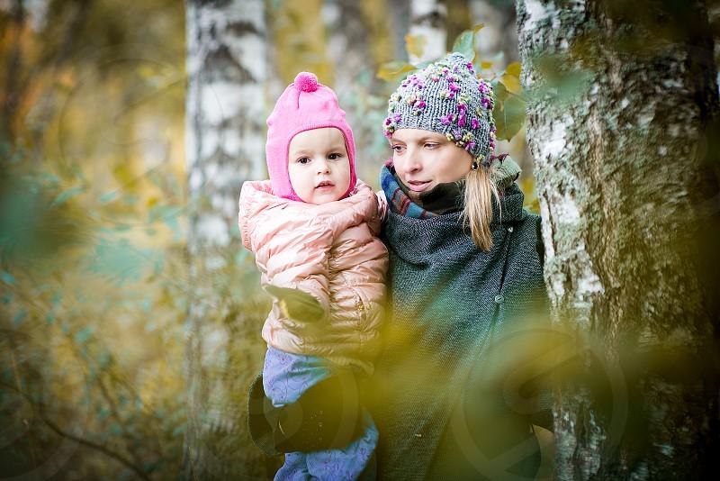 People in autumn season photo