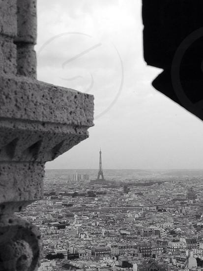 Eiffel Tower from Montmartre Paris  photo