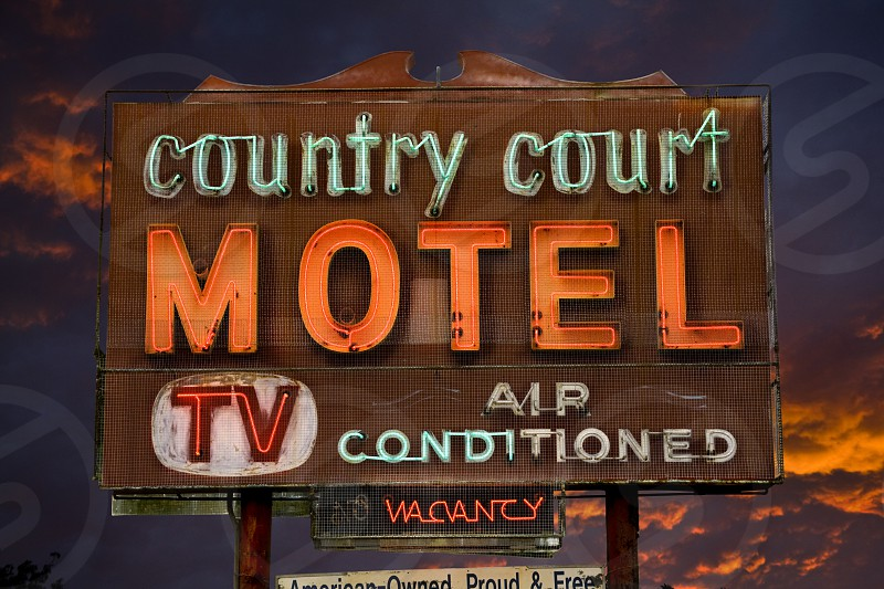 country court motel photo