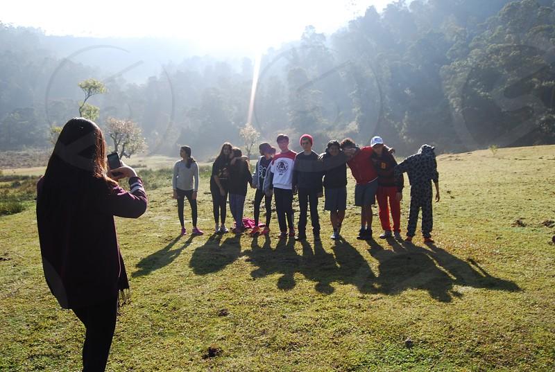 Fun camp with friends photo
