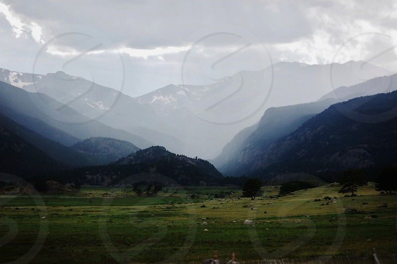Valley Mountains Colorado Hiking Mist Clouds photo