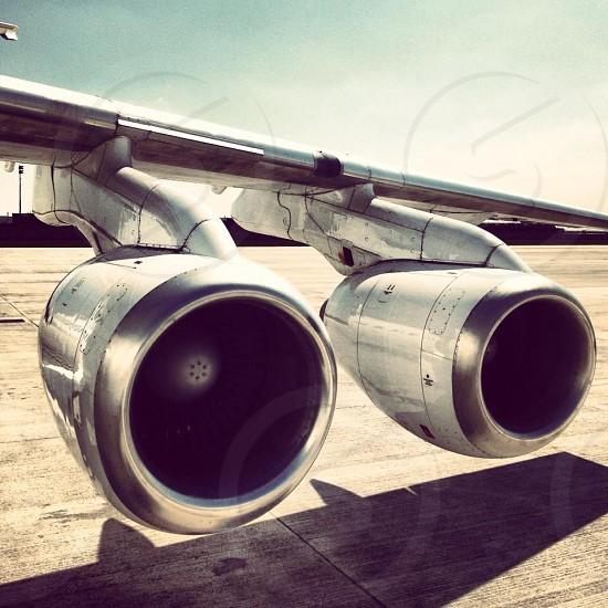 gray metal airplane part during daytime photo