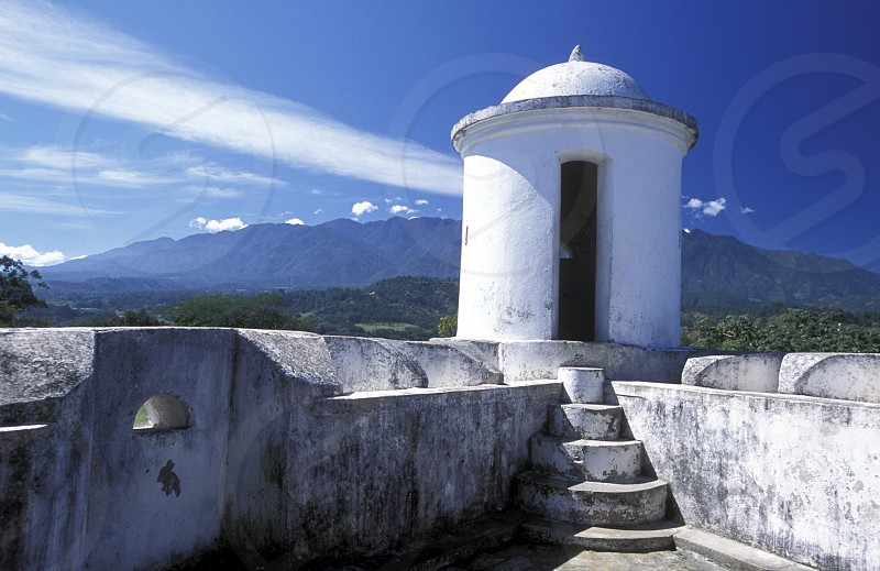 the castle at the Village of Gracias in Honduras in Central America photo