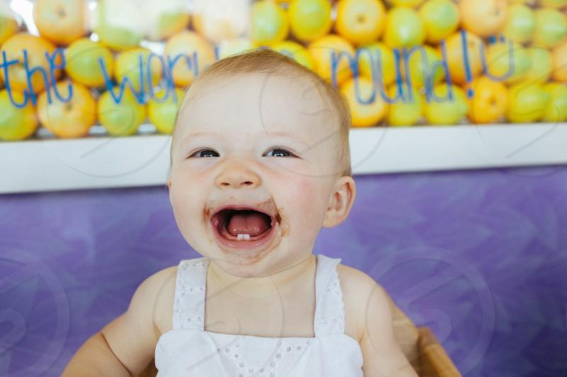 Happy Baby Girl Smiling photo