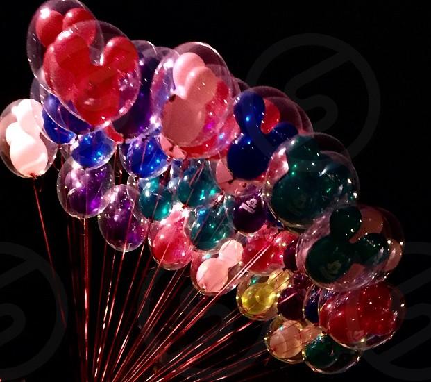 Mickey in balloon.. Disney land .. photo