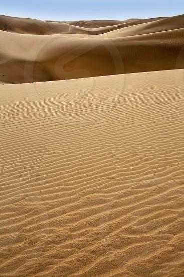 Desert dunes sand in Maspalomas Gran Canaria at Canary islands photo
