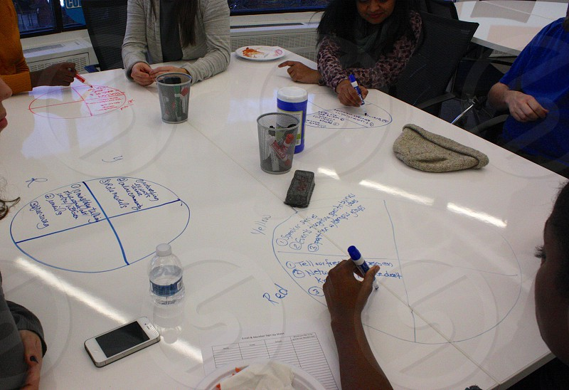 Design-thinking workshop at a business school photo