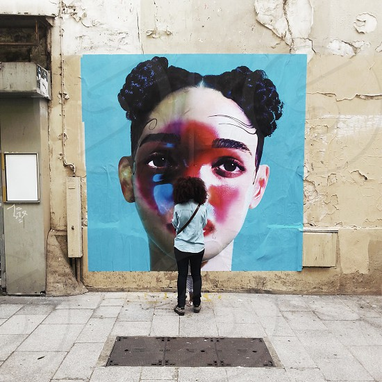 streetphotography paris rue saint denis FKA Twigs poster photo