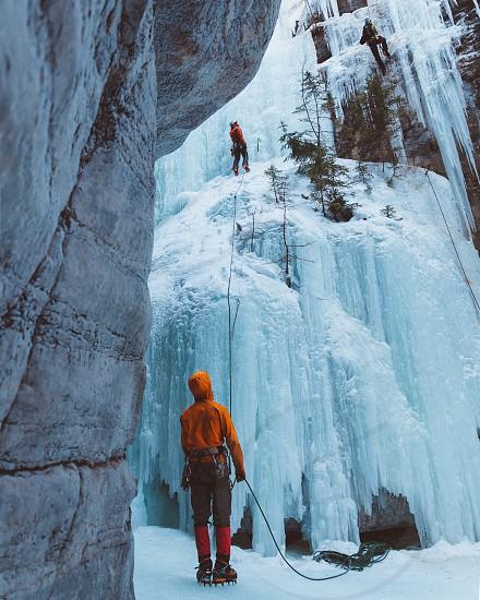 Canada activity glacier iceclimbing climb Mountains Alberta  photo