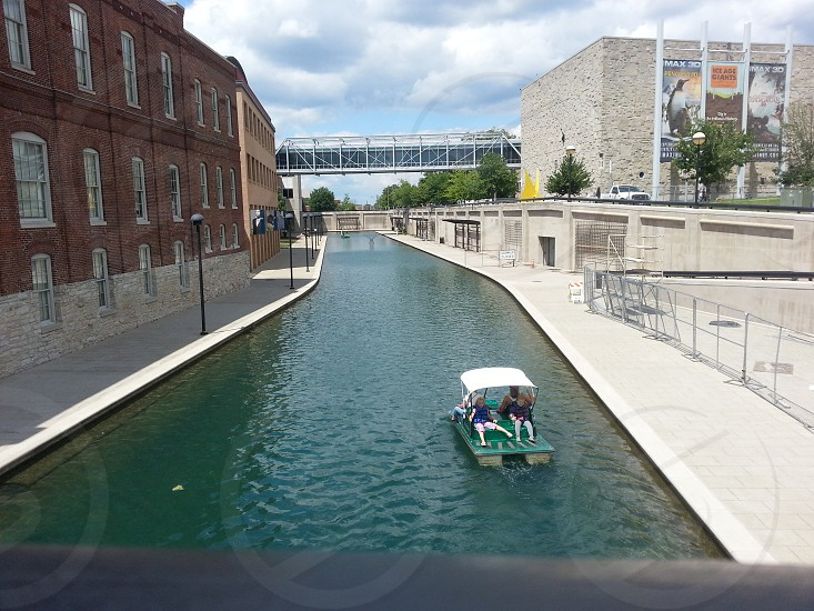 Paddle Boat along Indianapolis Canal Walk photo