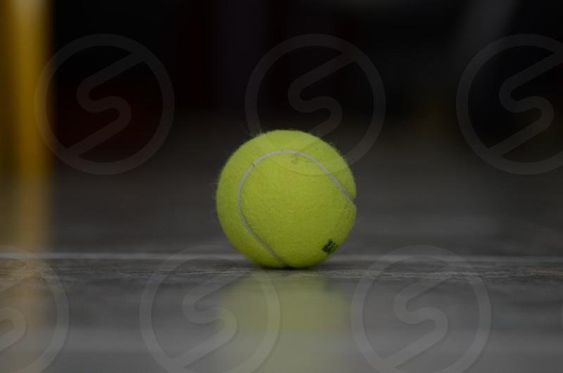 yellow tennis ball photo