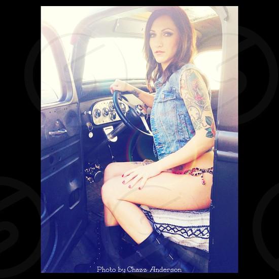 Tattoo model photo