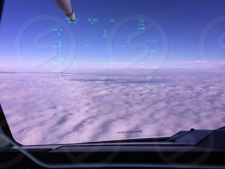 First RAF Airbus A400M Atlas HUD view over the clouds photo