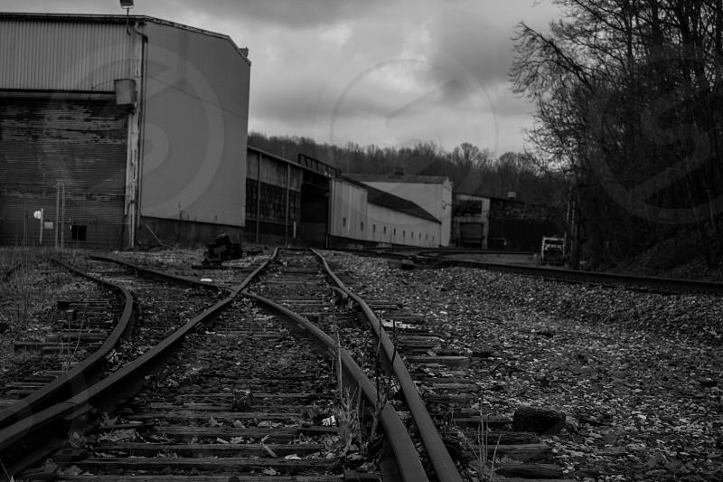 Train yard in Massillon OH.  photo