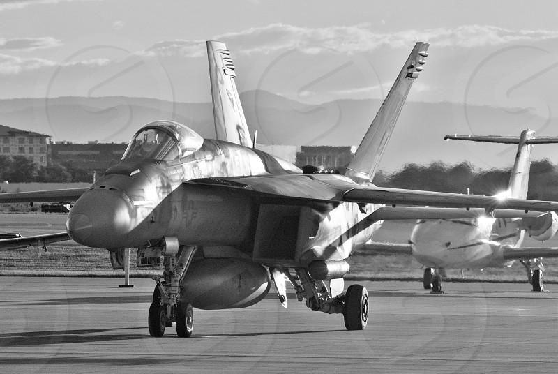 jet fighter plane black and white photography photo