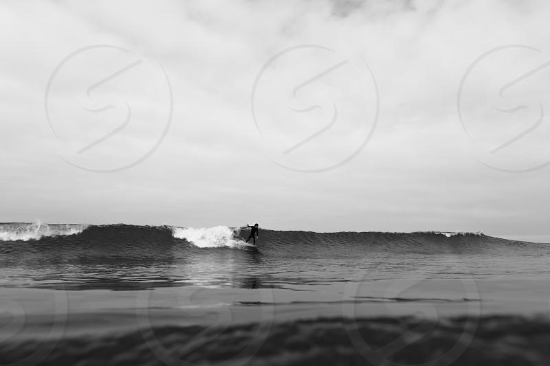 Catching a nice wave at Jalama Beach photo