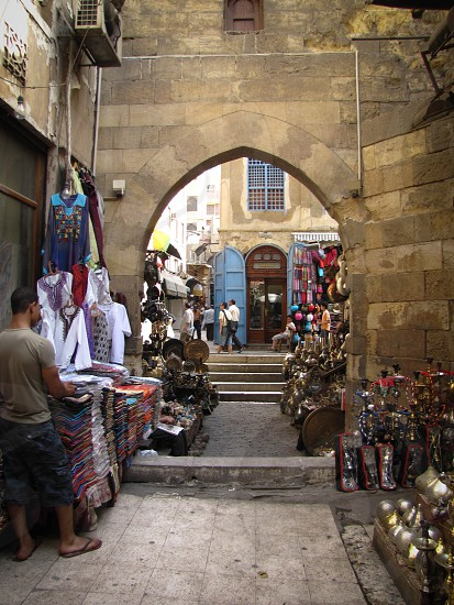 Khan el-Khalili market cairo city shopping photo