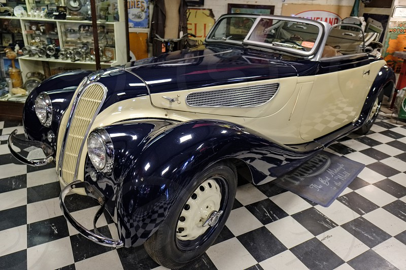 Classic BMW 327 1938 in the Motor Museum at Bourton-on-the-Water photo