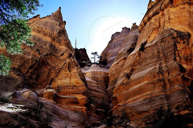 Kasha-Katuwe Tent Rocks National Monument Pajarito Plateau New Mexico. photo