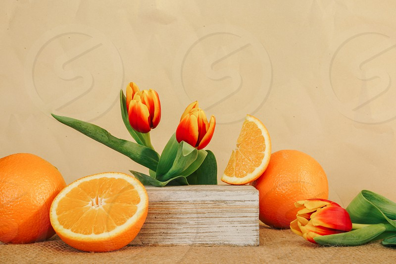 Oranges and Flowers photo