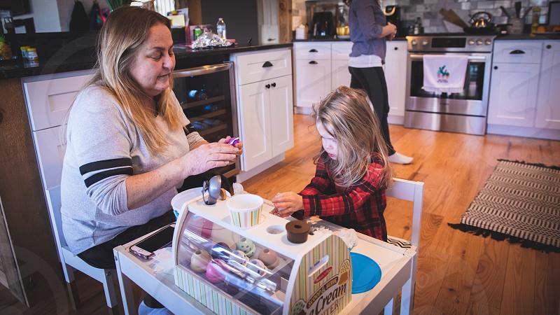 Working with grandma. Home Sweet Home photo