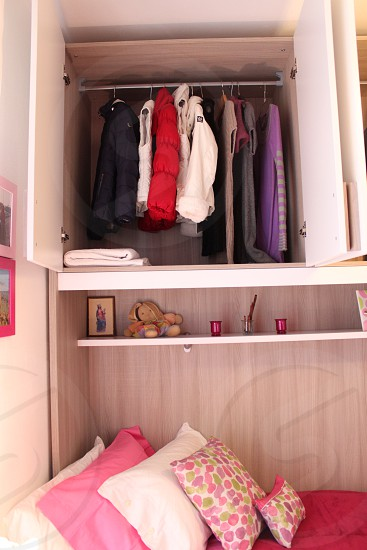 dresses in cabinet photo