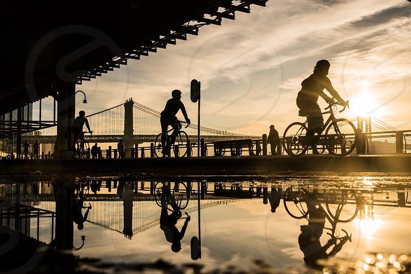 Cyclist reflection exercise  photo
