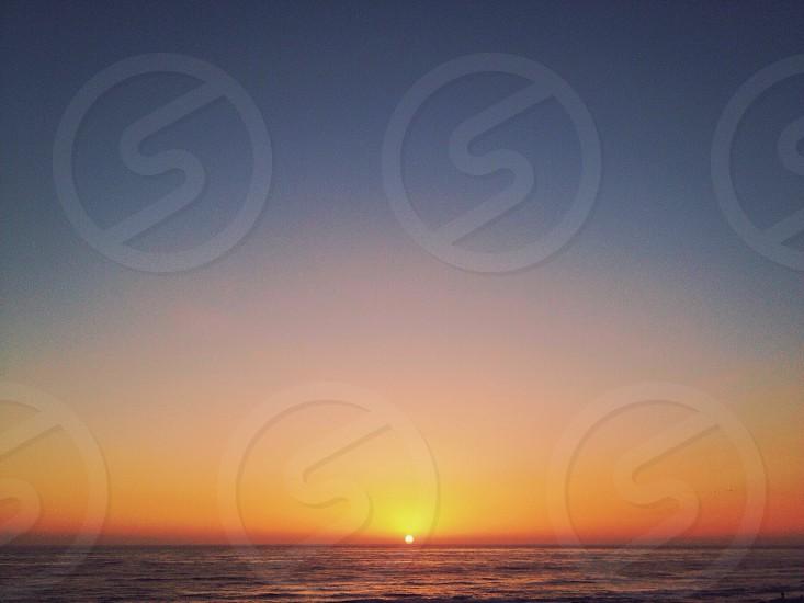 orange sunset view photo