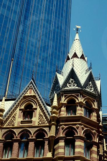 architecture modern vs ancient photo