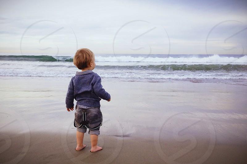 child's blue jacket photo