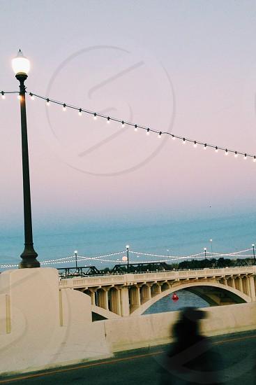 Lights moonlight on the bridge vsco photo