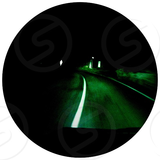 road view at night photo