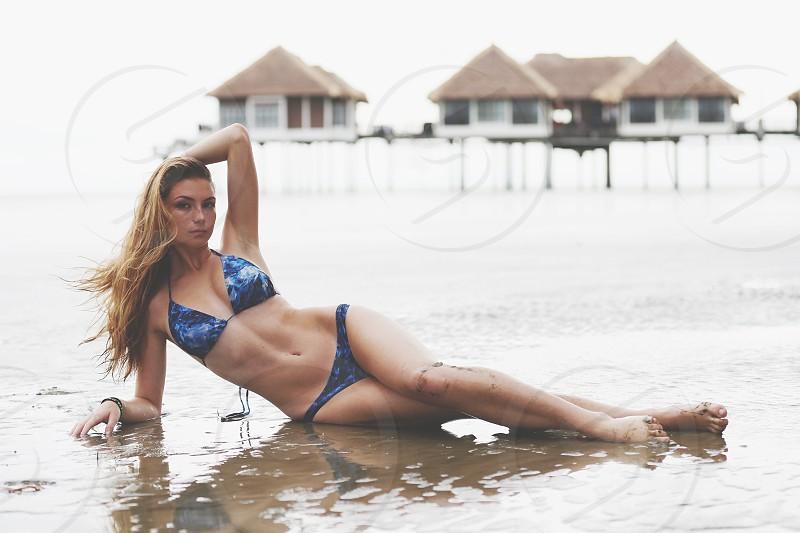 Beautiful girl in bikini  photo