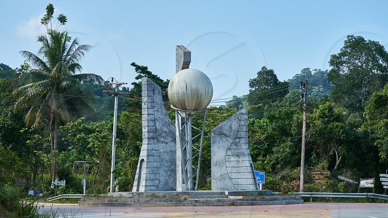 Sculpture on the roundabout. Koh Pangan. Thailand.             photo