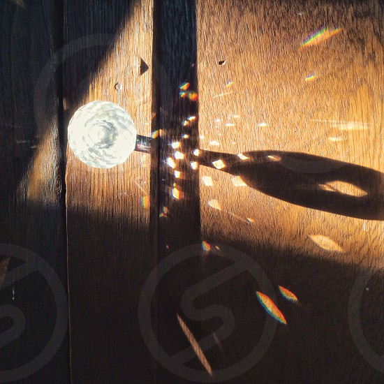 Door knob reflection crystal Priime Descent filter sunlight photo